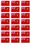 Manitoba Flag Stickers - 21 per sheet